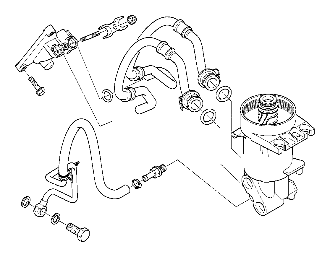 BMW X5 Connection flange. Lubrication, system