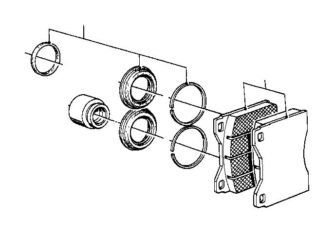 BMW 633CSi Repair kit, brake pads asbestos-free. TEXTAR