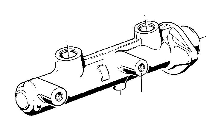 BMW 533i Brake master cylinder. 23, 81mm ate. Brakes