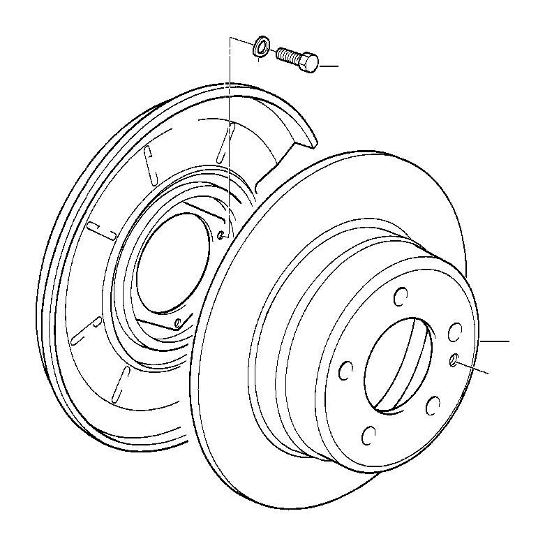 BMW M5 3.6 Brake disc, ventilated. 300X20. Sensor, Rear