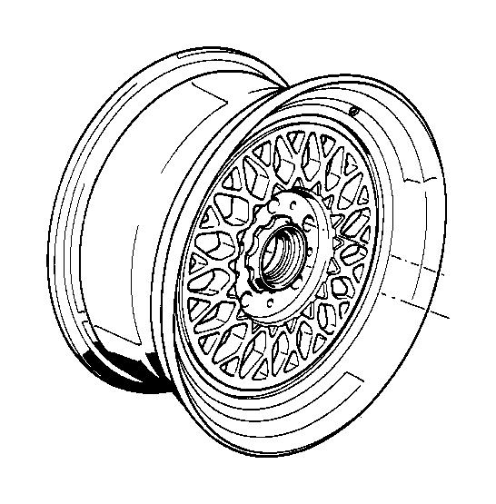 BMW 735iL Light alloy rim. 7JX15 ET:20. Wheels