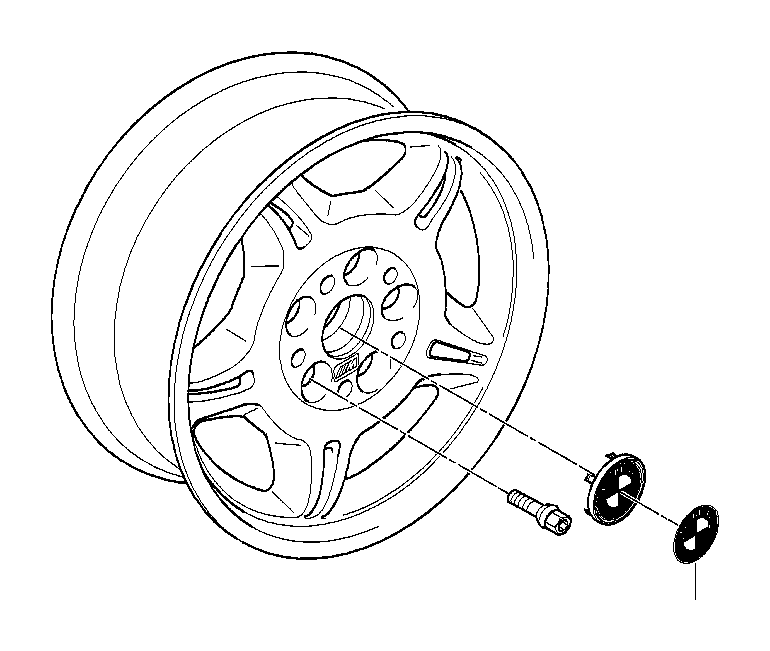 BMW 318i Light alloy rim polished. 81/2JX17 ET:41. Wheels