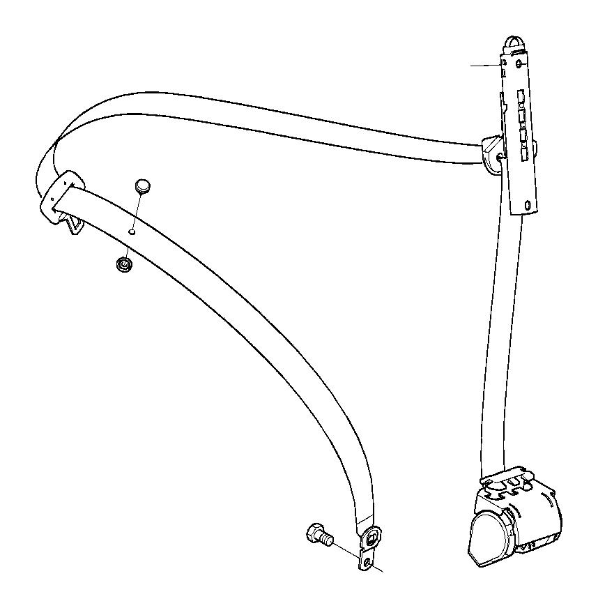 BMW 330i Lft frnt upper belt w/o force limiter. Electrical