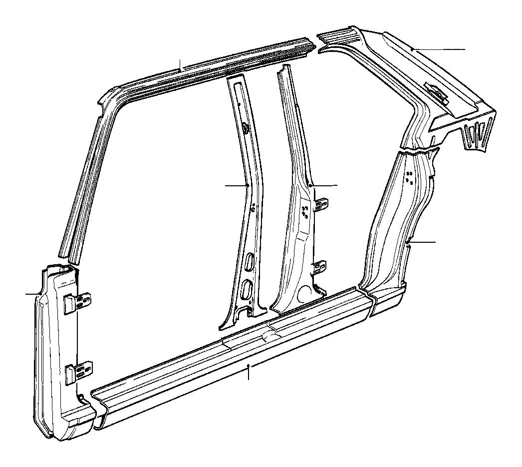 Bmw 533i Column Rear Left Body Side
