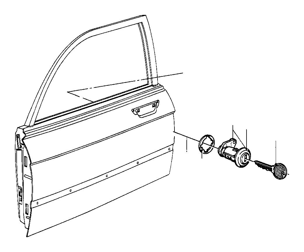 BMW 325e General key (blank). CODE* 10001. LOCK, Fuel