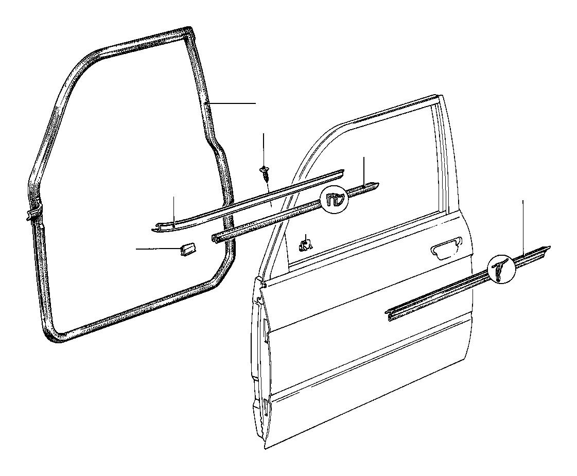 Bmw 318i Clamp Front Door