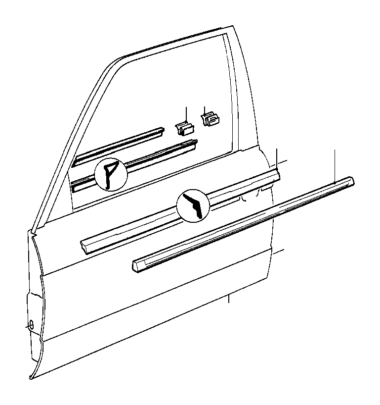 BMW 318i Covering right. SCHWARZ. Front, Door