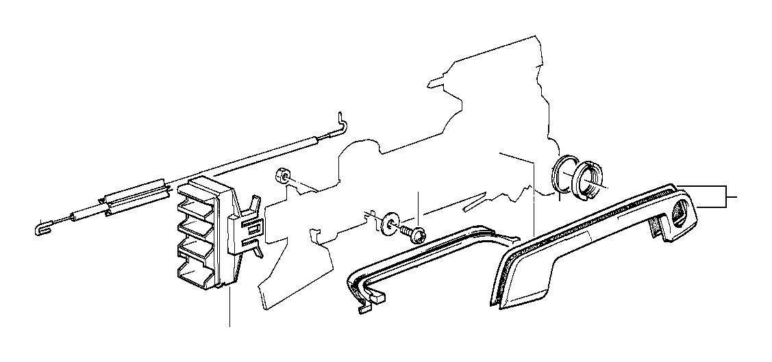 BMW 750iL Plug-in connection bracket. Door, front