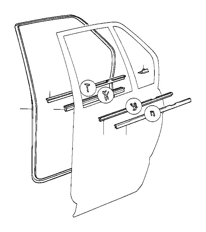 BMW M5 3.6 Door weather strip inner right. Rear