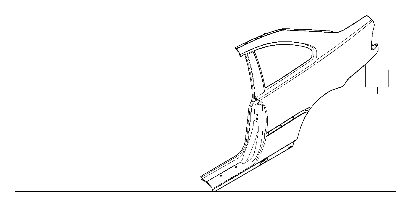 BMW 323Ci Right rear side panel. Body, trim, tail, frame