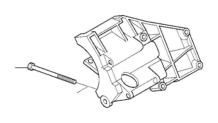 BMW 540i Climate compressor supporting bracket. Engine