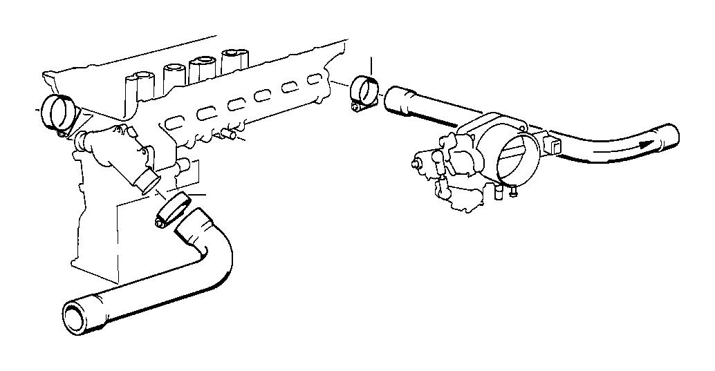 BMW M3 Hose clamp. L15-18. Engine, Fuel, System