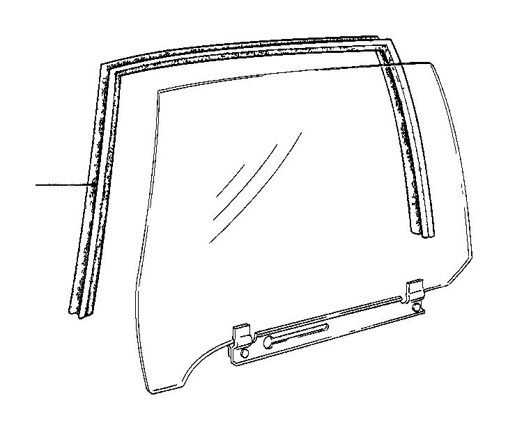 BMW 735i Right window guide. Door, body, trim