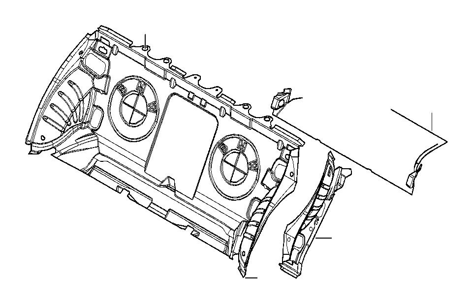 BMW 330xi Sound insulating trunk floor. Trim, rear