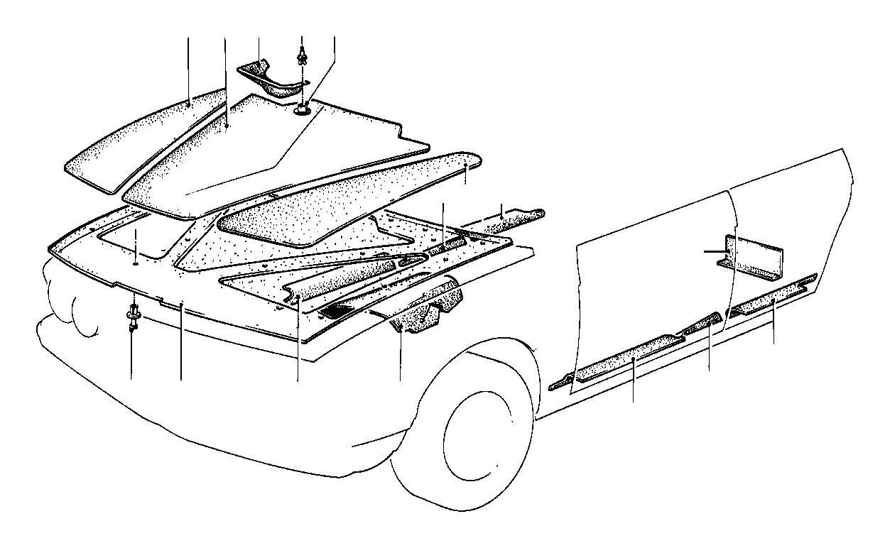BMW 323i Expanding rivet. Trim, body, compartment