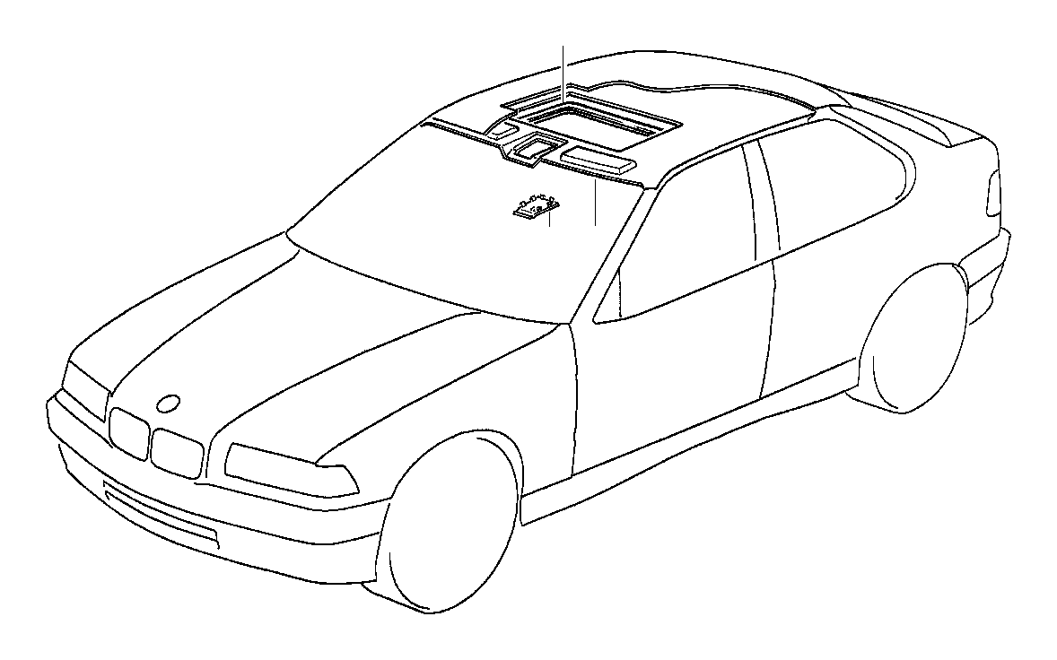 BMW M3 Synthetic strip. Beige. Equipment, body, interior