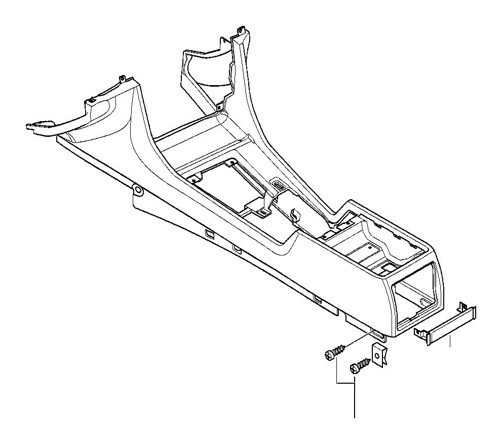 BMW 740iL Rear center console trim panel. Anthrazit