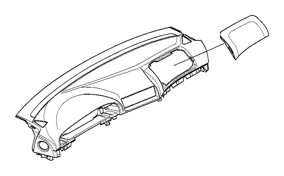 BMW 530i Airbag dashboard lid. Dunkelgrün. Instrument