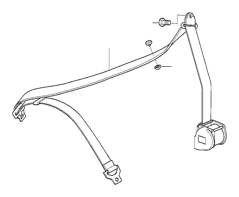 BMW Z3 Upper belt w/o force limiter, frnt lft. System