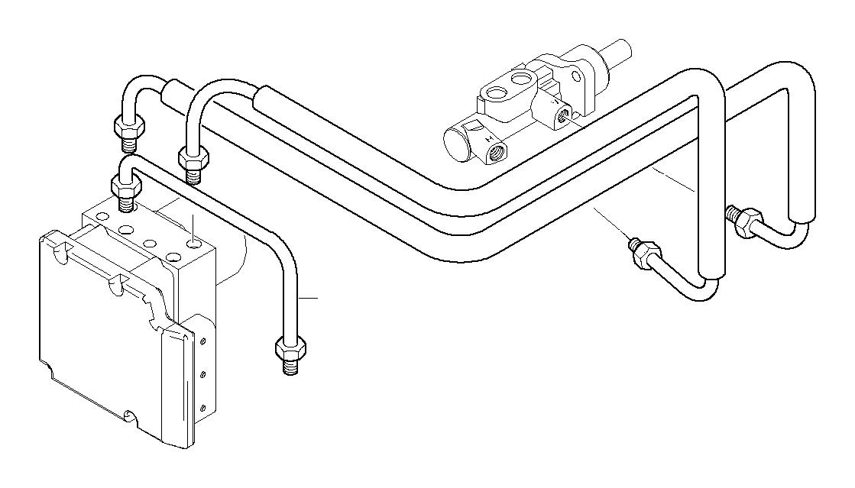 BMW 318i Pipe. M10/M12-990MM. Front, Brake, Asc