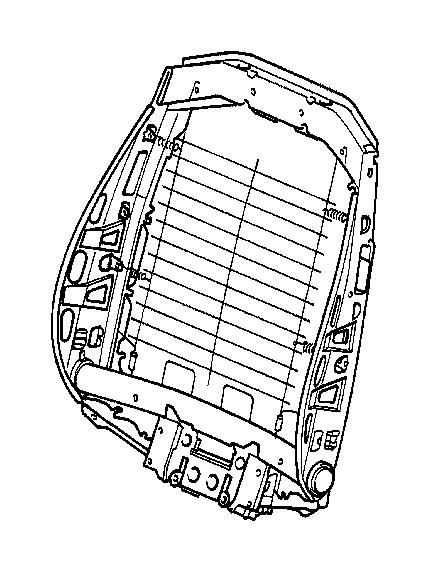 BMW 318i Backrest frame. Seat, front, electrical