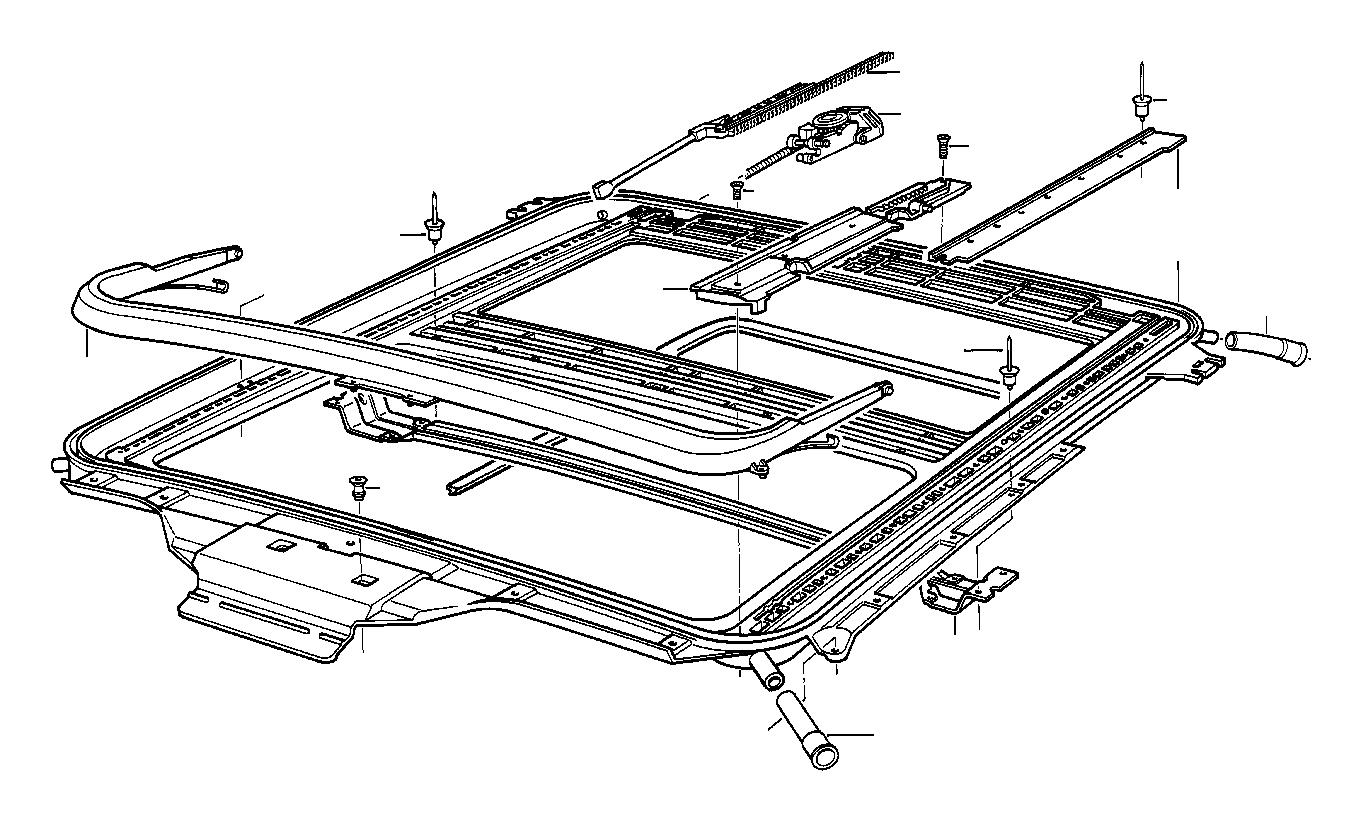 Bmw 840i Slide Rail Right