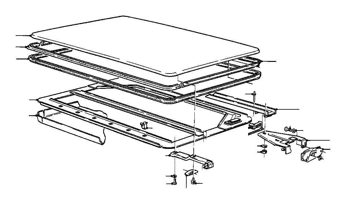 BMW 1602 Headlining. SSD. Body, Interior, Equipment