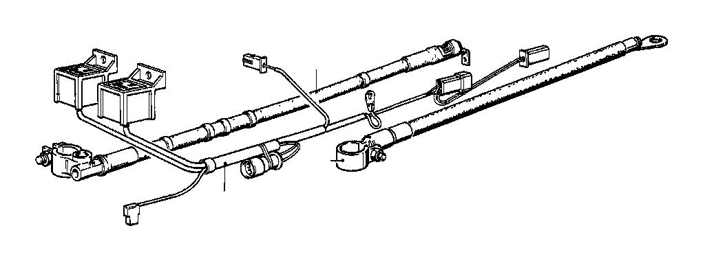 BMW 325e Battery cable (plus pole). L=890MM / 16QMM. Sets