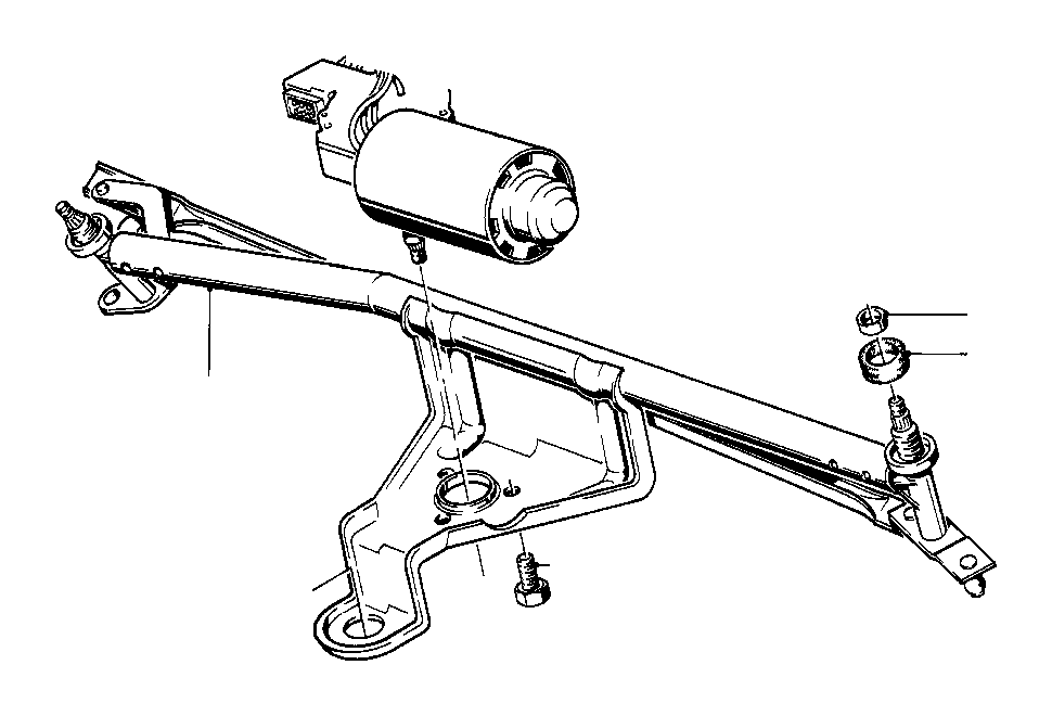 BMW 318i Wiper motor. Bosch. Lamp, head, electrical