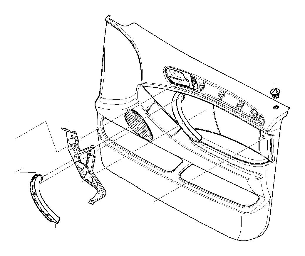 BMW X5 Door handle front right. GRAU. Trim, Panels