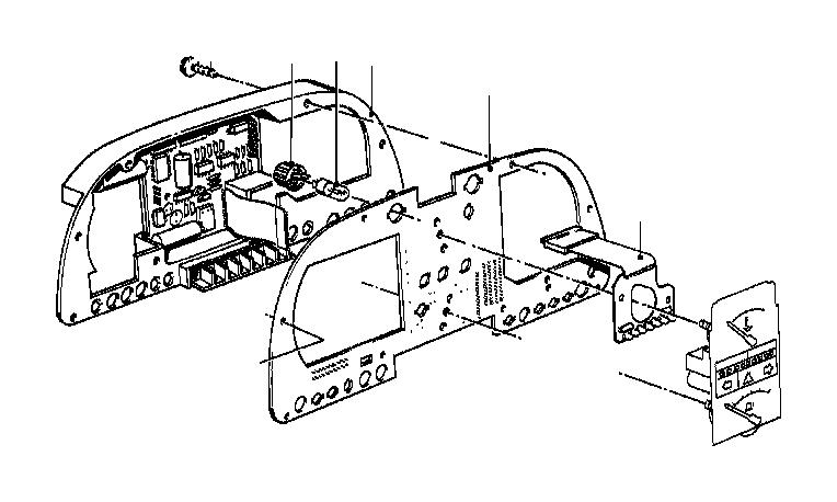 BMW 633CSi Printed circuit board. INSTRUMENTS
