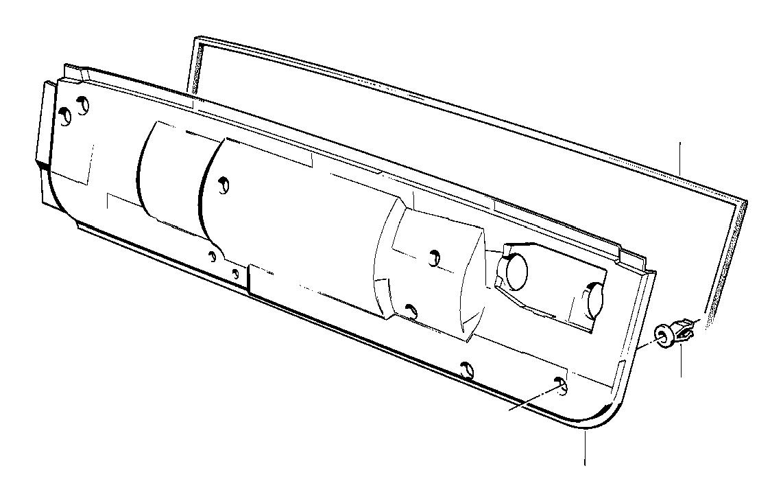 BMW 325ix Gasket. L=1300 MM. Heater, Conditioning, Air