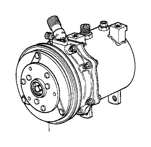 BMW 633CSi Exchange air conditioning compressor. R134A
