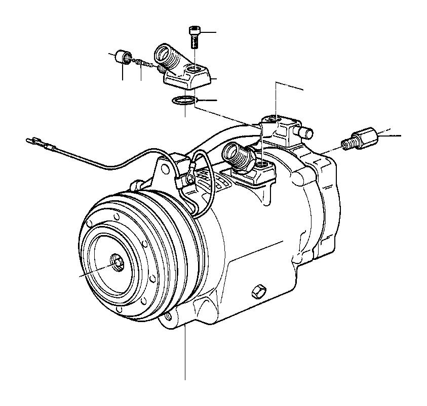 BMW 733i Valve. Conditioning, Air, COMPRESSOR