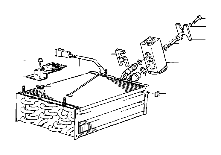 BMW 840Ci Plate. AIR, Conditioning, Evaporator