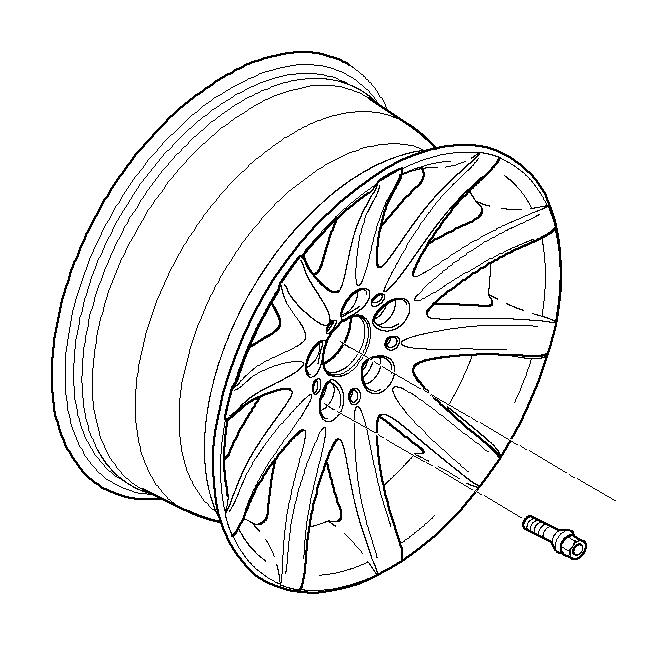 BMW 745Li Light alloy rim. 10JX19 ET:24. Wheels, Wheel