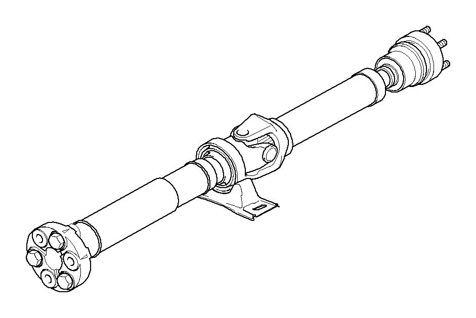 BMW M3 Manual drive shaft gearbox. L=1404MM. Velocity