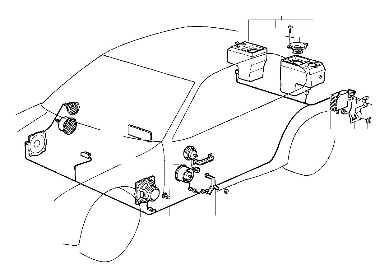 BMW M3 Rear right loudspeaker. Hifi system. Single