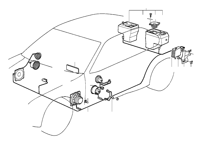 BMW 318i Chrome Tweeter. GRAU. System, Single
