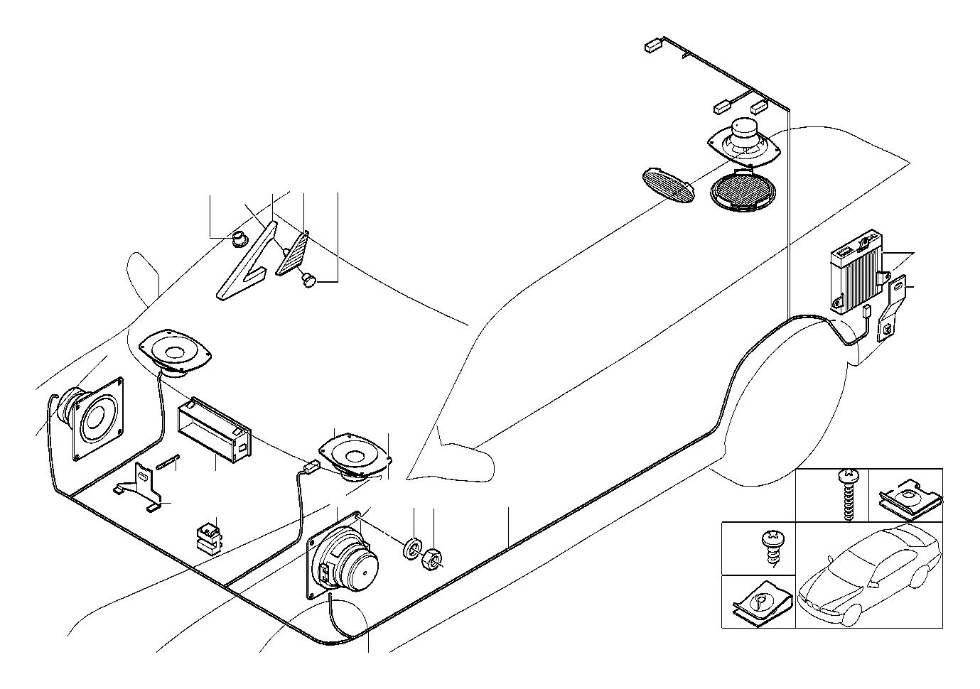 BMW 735iL Loudspeaker. 4OHM 20/40 WATT. System, Single