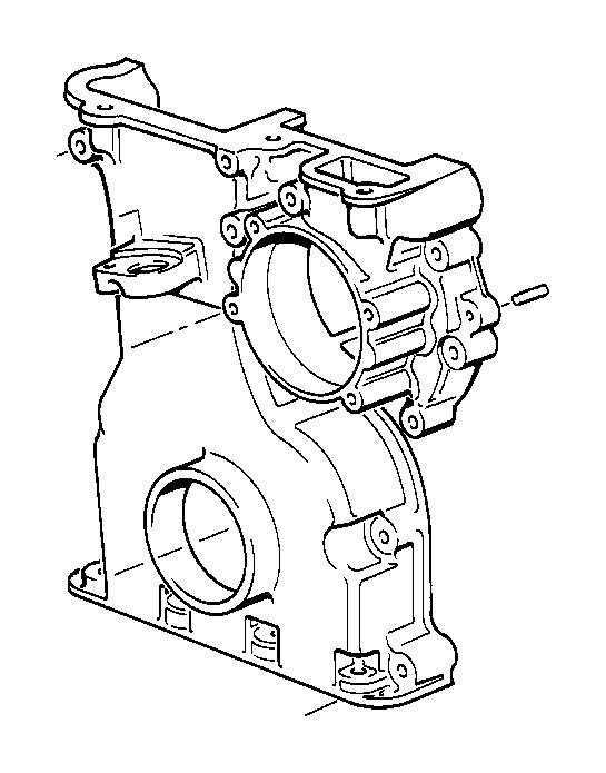 BMW 745Li Timing case cover, bottom. ALTERNATORMOUNTING