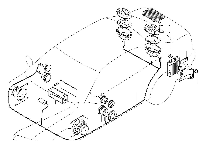 BMW 325i Audio wiring harness HiFi. System, Single