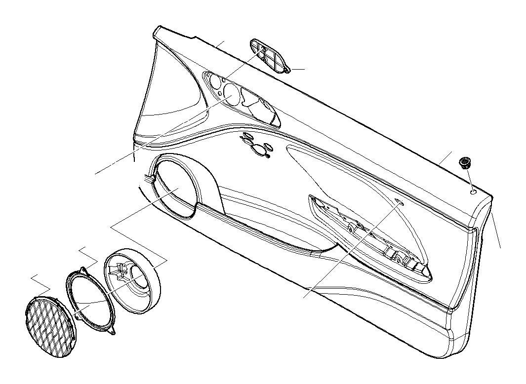 Bmw 325ci Blind Plate Trim Door Panels