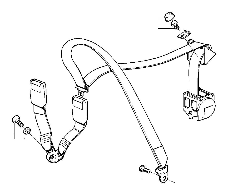 BMW 740iL Collar screw. 7/16X22. Belt, Safety, Front