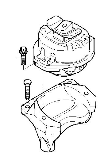 BMW 760i Console right. Engine, suspension, transmission