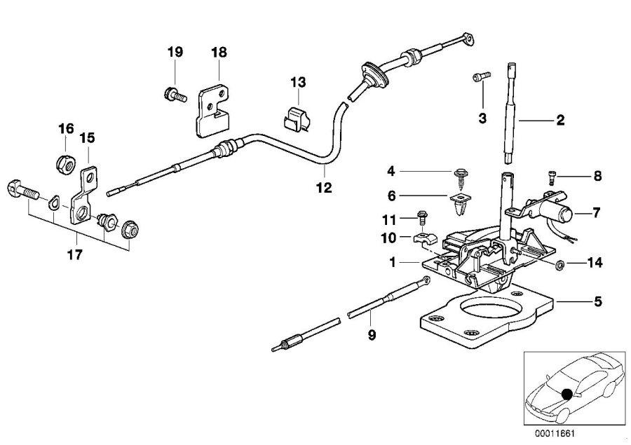 1999 BMW M3 Gear shift lug. Interlock. Transmission