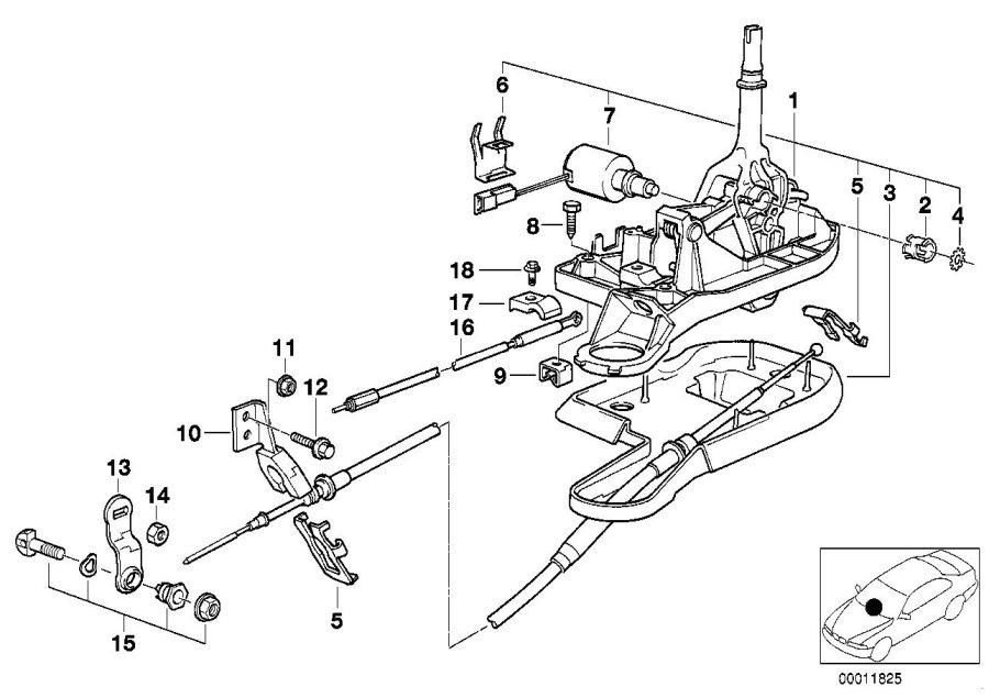 BMW 528i Support bracket. Transmission, Gearshift, Shift