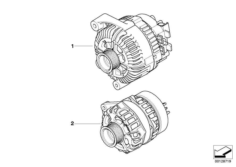 2003 BMW X5 Exch. Generator. 180A. Alternator, ALPINA