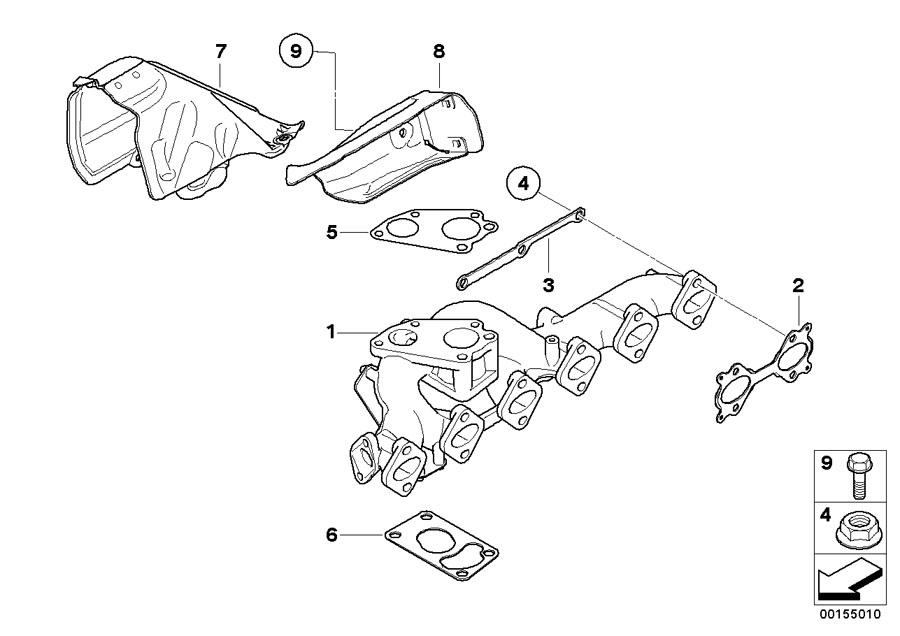 BMW X5 Gasket Asbestos Free. Manifold, Exhaust, Engine
