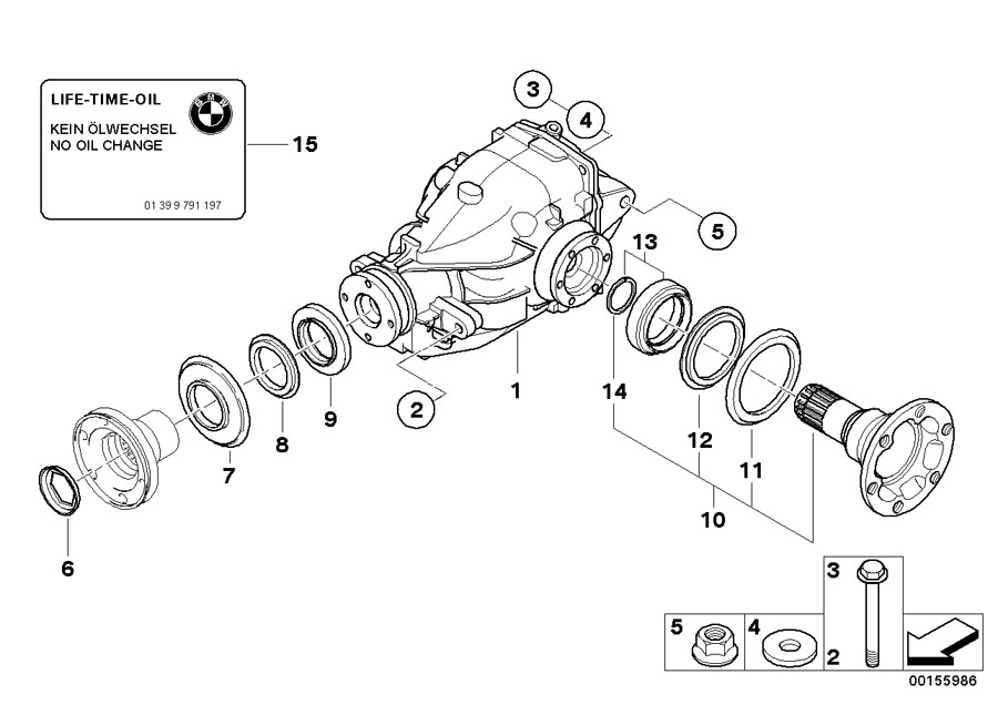 BMW X3 Rear-axle-drive. I=40:9=4, 44. Suspension, OUTPUT